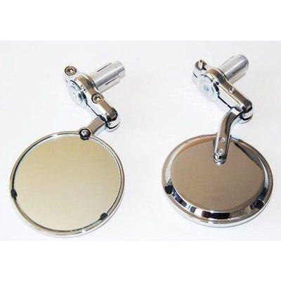 """MCU 3"""" Bar End Chrome 22MM Mirrors"""