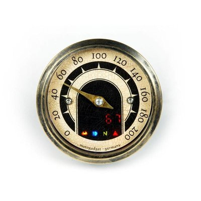 Motogadget 49MM MST Vintage Speedo mit Messingring