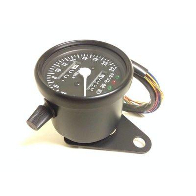 MCU Speedometer  Black with 4 Function Lights