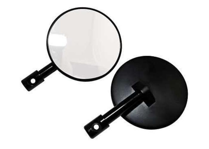 Set van 2 Zwarte Bar End Cafe Racer Spiegels