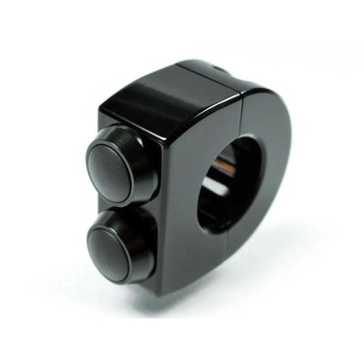 "Motogadget m-Switch 2 knops 22MM of 7/8"" (zwart)"