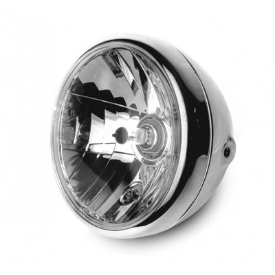 "Highsider 7"" Clear Chrome Gloss Koplamp RENO 1"