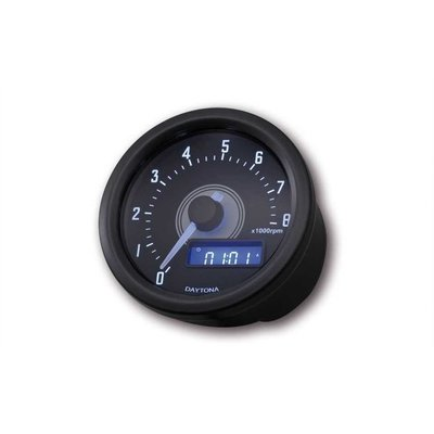 Daytona Velona Toerenteller Zwart 8.000 RPM