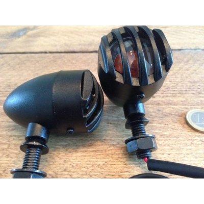 MCU Steampunk Flat Black Bullet Knipperlichten