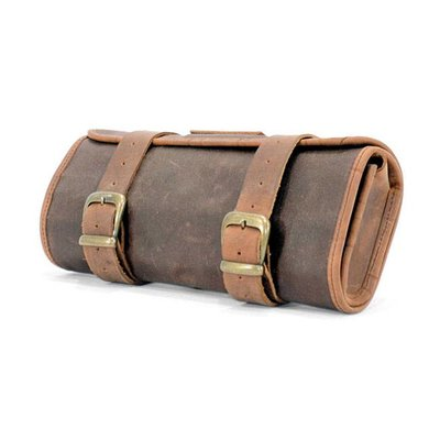 Longride Waxed Cotton Toolbag met Leder Finish
