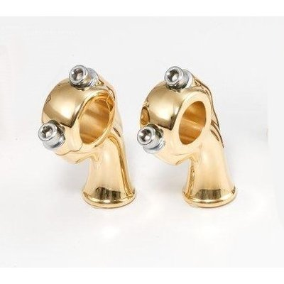 "Kustom Tech 2.5"" Polished Brass Deluxe Risers met 1"" pullback"