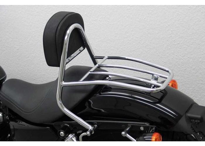 Driver Sissy Bar Harley Davidson Sportster Evo 2004- (Custom, Roadster/Low, Nightster/Iron)