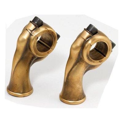 "Kustom Tech 2.5"" Raw Brass Deluxe Risers met 1"" pullback"