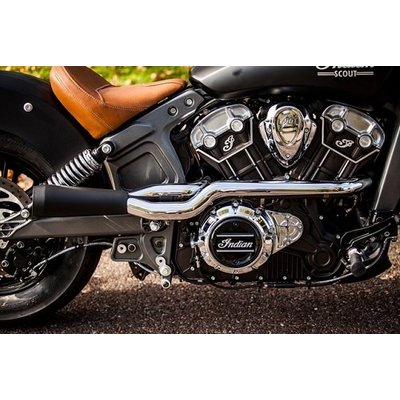 Trask 2 Into 1 Chrome Exhaust System Indian Scout