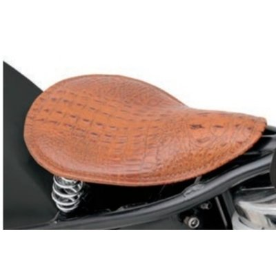 Drag Specialties Alligator Solo Seat Brown
