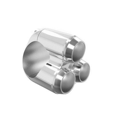 "Motone 3 Button Schakelaar 22MM of 7/8"" Brushed Aluminium"