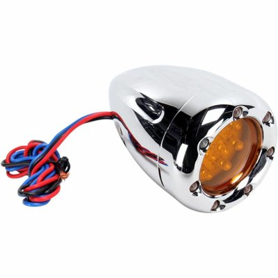 Roland Sands Turn Signals Deep Cut With Fire Ring Chrome