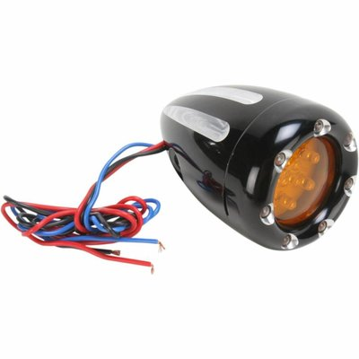 Roland Sands Turn Signals Deep Cut With Fire Ring Black
