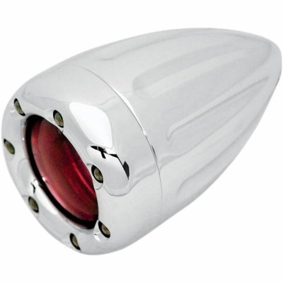 Roland Sands Knipperlicht Deep Cut With Fire Ring Chrome/Rood