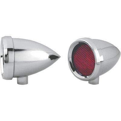 Roland Sands Marker Light Speeding Bullet Chrome Red