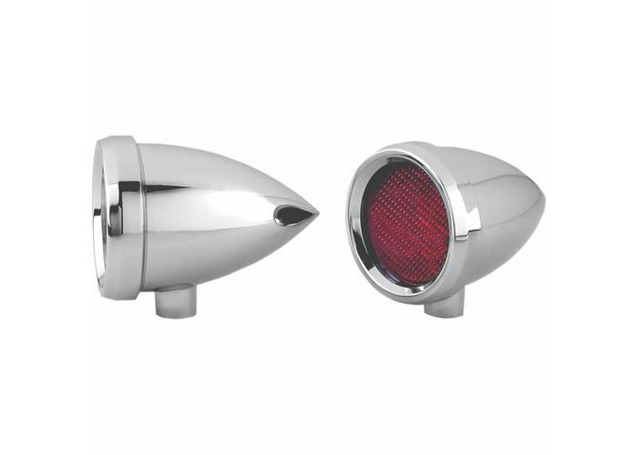 Roland Sands Marker Light Speeding Bullet Chrome Rood