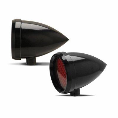 Roland Sands Marker Light Speeding Bullet Schwarz Rot