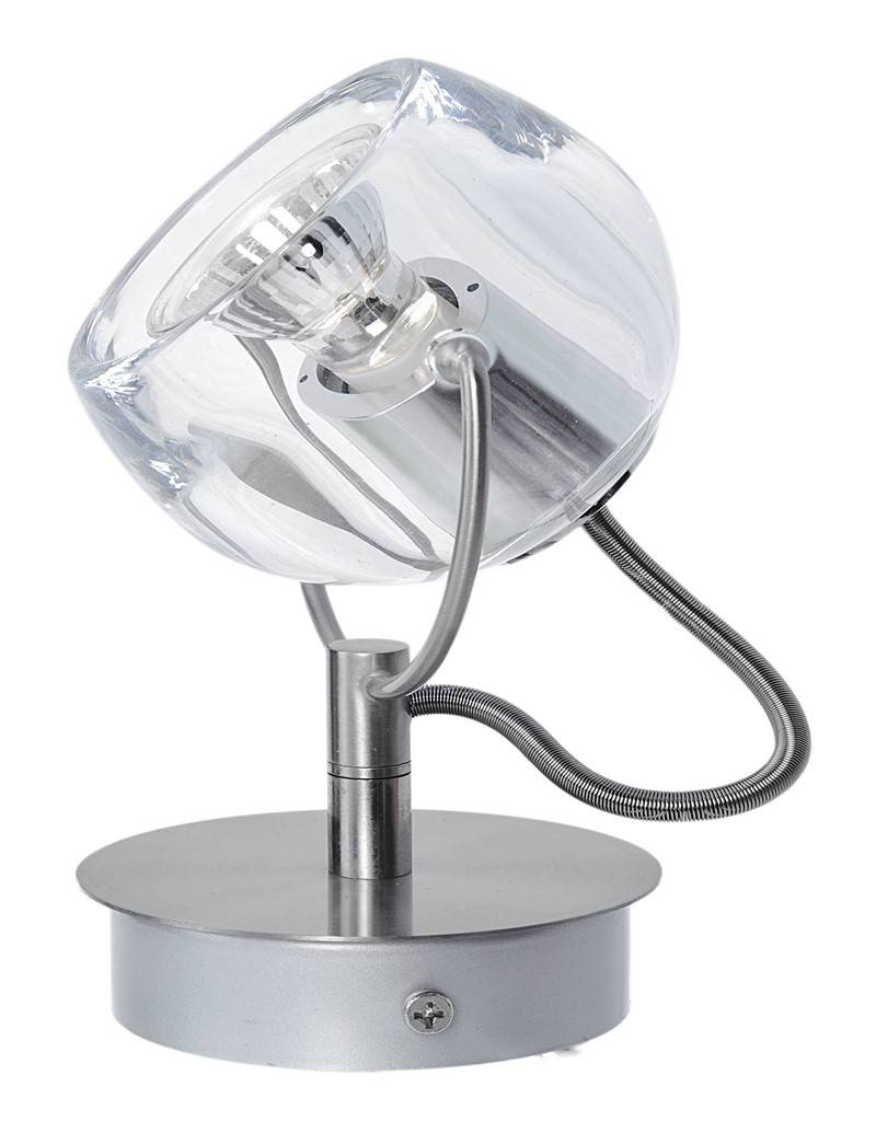 Ceiling light living room ball on rod 360° 125mm H GU10