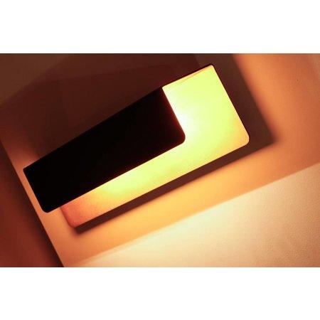 Wall light black gold rectangular 2xG9 down 340mm wide