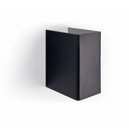 Wall light black up down rectangular 65mm wide G9 fitting