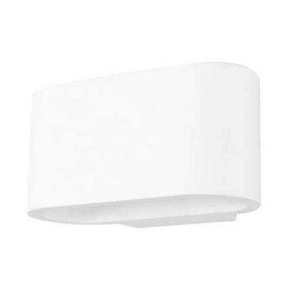 Wall light plaster oval up down 180mm wide with G9