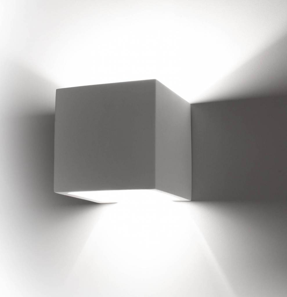 Plaster Wall Lights Up Down : Wall light plaster square up down 115mm wide with G9 - Myplanetled