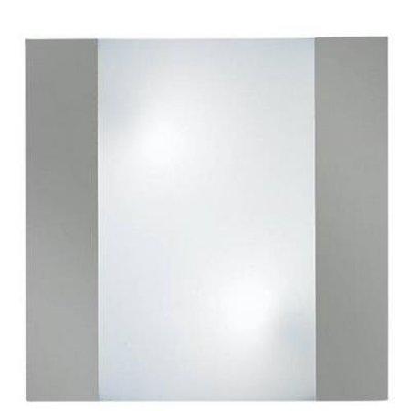 Wandlamp E27 x2 vierkant frontaal aluminium 350mm breed
