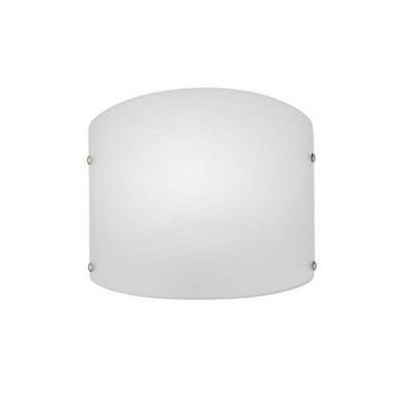 Wandlamp glas ovaal 295mm breed met E27 fitting