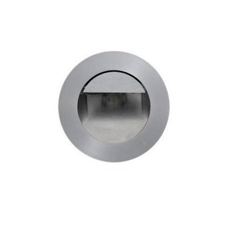 Wall light metal LED stainless steel recessed Ø 92mm 1W