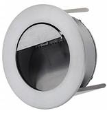 Applique murale encastrable LED grise diamètre 92mm 1W