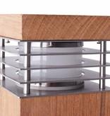 Bollard light wood 600mm high 100mm wide for E27 fitting