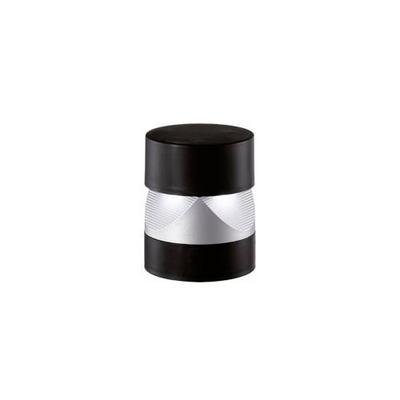 Wall light outdoor LED round black or silver 136mm H 3W