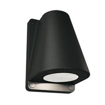 Outdoor wall light fixture black, anthracite 155mm H GU10