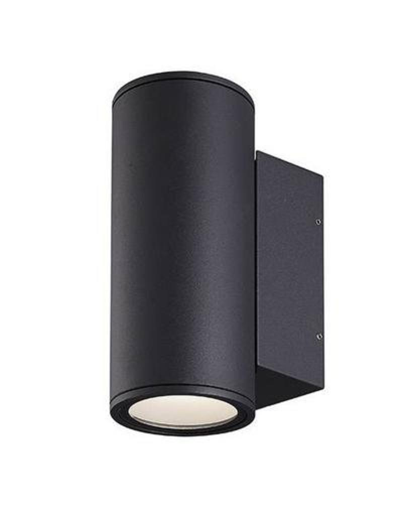 Outdoor Wall Light Led Up Down Anthracite Grey 220 2x12w Myplanetled