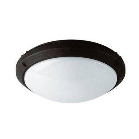 Plafondlamp buiten wit of zwart rond 270mm diameter E27