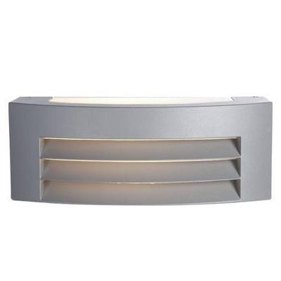 Outdoor wall light silver recessed 285mm wide 112mm H E27
