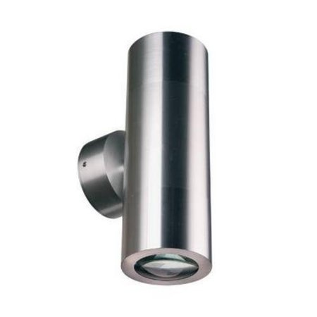 Outdoor wall light up down 196mm high 2xGU10 aluminium