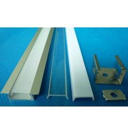 LED profiel inbouw 1m lang 12mm breed met plexi