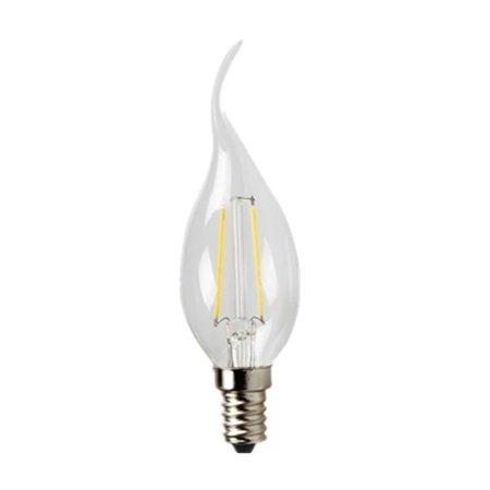 Lampe bougie filament LED avec col de cygne 2W