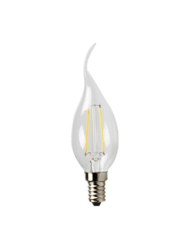 LED candle lamp dimmable 2W filament swan neck