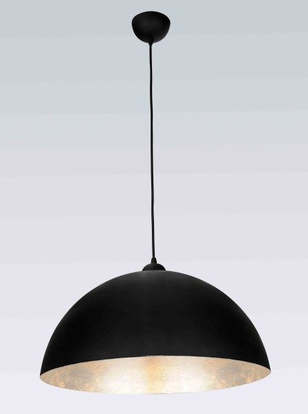 Pendant light black silver E27 500mm diameter
