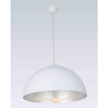 Pendant light white silver E27 500mm diameter