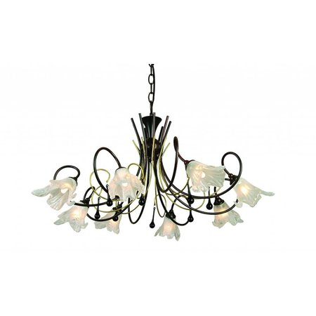 Pendant light antique black gold color 8xG9 28W included