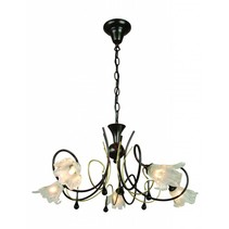 Pendant light antique ruggine/gold color 5xG9 28W included
