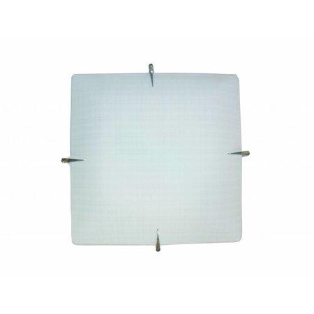 Wall light white square E27 400mmx400mm
