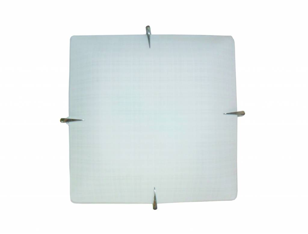 Wall light white square E27 400mmx400mm - Myplanetled
