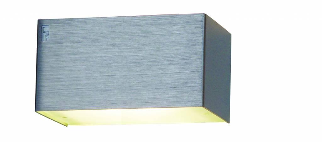 applique murale led blanche aluminium ou acier bross g9. Black Bedroom Furniture Sets. Home Design Ideas