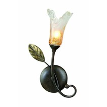Wandlamp antiek zwart goud met 1xG9 28W 270mm hoog