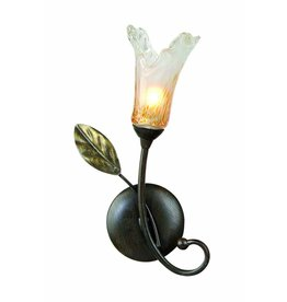 Wall light antique black gold with 1xG9 28W 270mm high