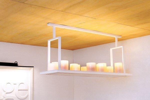 luminaire suspendu rustique led blanc bronze 12 bougies myplanetled. Black Bedroom Furniture Sets. Home Design Ideas